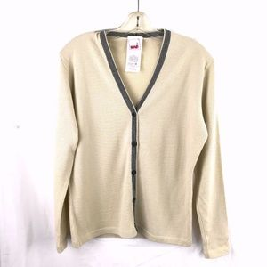 Vintage Mondi 100% virgin wool cardigan